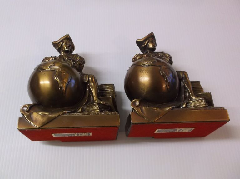 """Christopher Columbus """"Bookends"""" Philadelphia Manufacturing Co."""