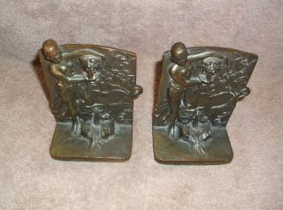 Girl at Fountain *Bookends*. Miscellaneous