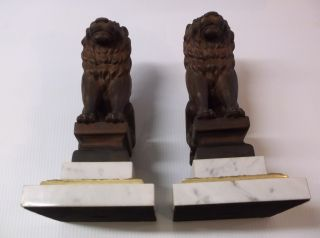 "Lion ""Bookends"" Miscellaneous"