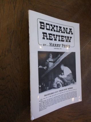 Boxiana Preview: Sixth Issue. Harry Pegg